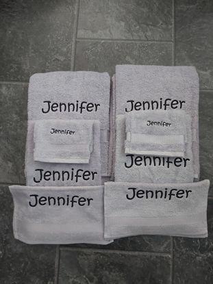 Afbeeldingen van Handdoeken set 4 met naam