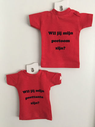 Afbeeldingen van Mini T-shirtje met tekst of naam
