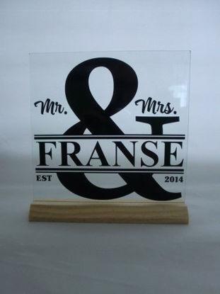 Afbeeldingen van Glasplaatje huwelijk